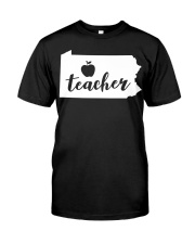 Pennsylvania Teacher - Map Premium Fit Mens Tee thumbnail