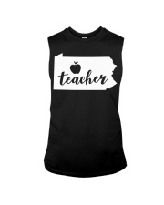 Pennsylvania Teacher - Map Sleeveless Tee thumbnail