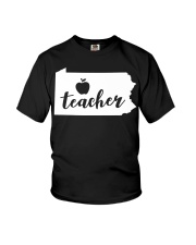 Pennsylvania Teacher - Map Youth T-Shirt thumbnail