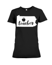 Pennsylvania Teacher - Map Premium Fit Ladies Tee thumbnail