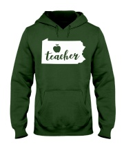 Pennsylvania Teacher - Map Hooded Sweatshirt thumbnail