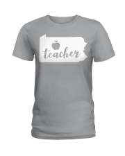 Pennsylvania Teacher - Map Ladies T-Shirt thumbnail