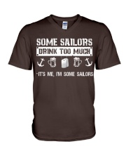 Some Sailors Drink Too Much V-Neck T-Shirt thumbnail