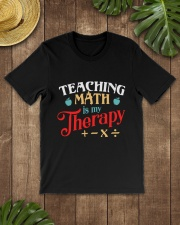 Math Teacher - Teaching Math is My Therapy Classic T-Shirt lifestyle-mens-crewneck-front-18