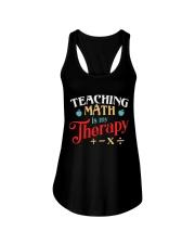 Math Teacher - Teaching Math is My Therapy Ladies Flowy Tank thumbnail