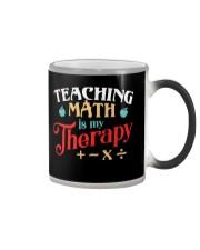 Math Teacher - Teaching Math is My Therapy Color Changing Mug thumbnail