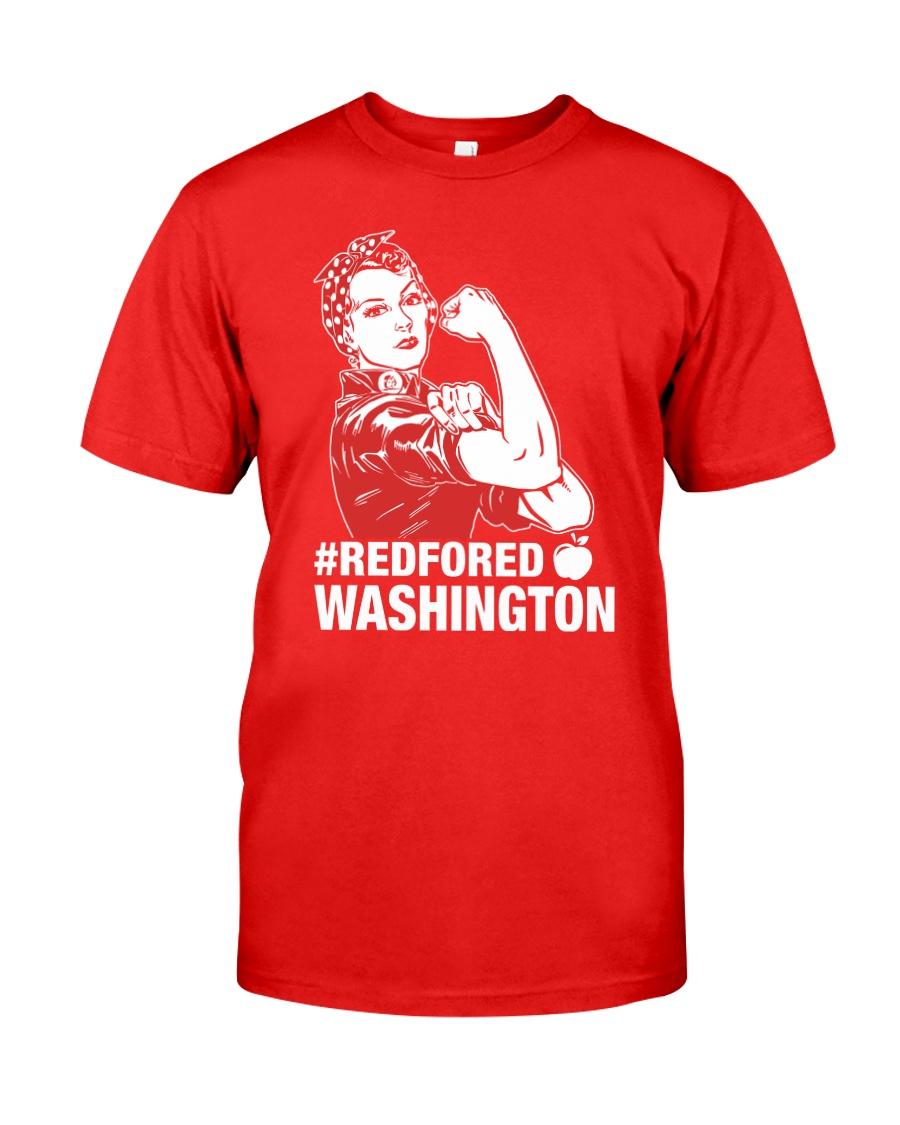 RED for ED - Teacher Strong Washington  Classic T-Shirt