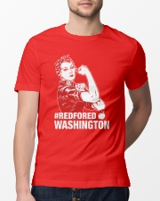 RED for ED - Teacher Strong Washington  Classic T-Shirt lifestyle-mens-crewneck-front-13