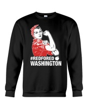 RED for ED - Teacher Strong Washington  Crewneck Sweatshirt thumbnail