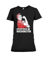 RED for ED - Teacher Strong Washington  Premium Fit Ladies Tee thumbnail