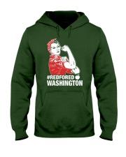 RED for ED - Teacher Strong Washington  Hooded Sweatshirt thumbnail