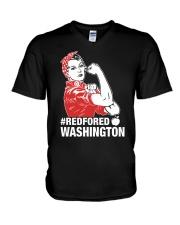 RED for ED - Teacher Strong Washington  V-Neck T-Shirt thumbnail