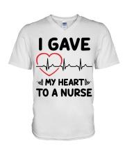 I Gave My Heart to a Nurse V-Neck T-Shirt thumbnail