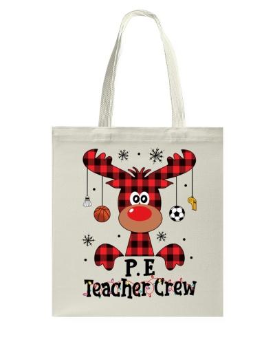 PE Teacher Crew - Reindeer - Christmas Shirt