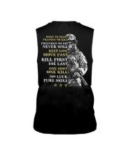 Veteran - Born to Fight - No Luck - Pure Skill Sleeveless Tee thumbnail