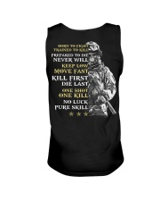 Veteran - Born to Fight - No Luck - Pure Skill Unisex Tank thumbnail