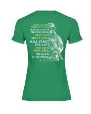 Veteran - Born to Fight - No Luck - Pure Skill Premium Fit Ladies Tee thumbnail