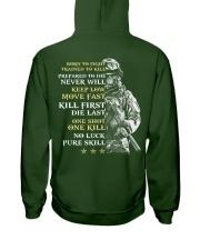 Veteran - Born to Fight - No Luck - Pure Skill Hooded Sweatshirt thumbnail