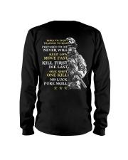 Veteran - Born to Fight - No Luck - Pure Skill Long Sleeve Tee thumbnail