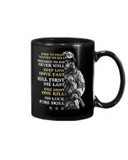 Veteran - Born to Fight - No Luck - Pure Skill Mug thumbnail