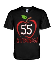 Teacher - 55 Strong V-Neck T-Shirt thumbnail