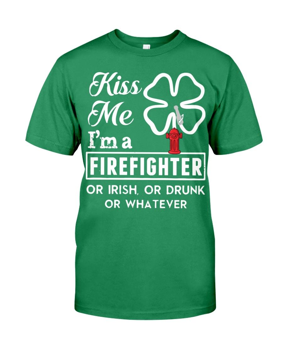 Firefighter - Kiss Me Premium Fit Mens Tee