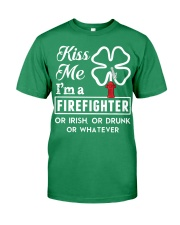 Firefighter - Kiss Me Premium Fit Mens Tee front