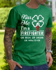 Firefighter - Kiss Me Premium Fit Mens Tee lifestyle-mens-crewneck-front-7
