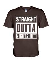 Straight Outta Nightshift V-Neck T-Shirt thumbnail