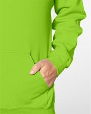 Retired Teacher - Off Duty - Dog Mom Hooded Sweatshirt garment-hooded-sweatshirt-detail-front-bag-04