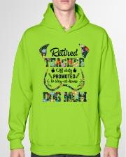 Retired Teacher - Off Duty - Dog Mom Hooded Sweatshirt garment-hooded-sweatshirt-front-04