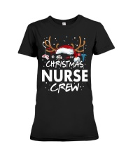 Christmas Nurse Crew Premium Fit Ladies Tee thumbnail