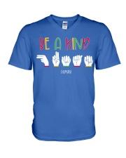 Special ED Teacher - Be a kind human V-Neck T-Shirt thumbnail