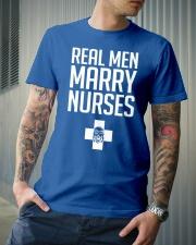 Real Men Marry Nurses - Biker Classic T-Shirt lifestyle-mens-crewneck-front-6