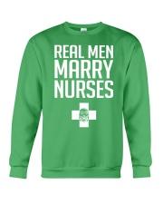 Real Men Marry Nurses - Biker Crewneck Sweatshirt thumbnail