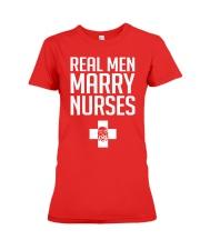 Real Men Marry Nurses - Biker Premium Fit Ladies Tee thumbnail