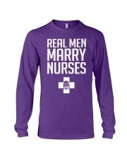 Real Men Marry Nurses - Biker Long Sleeve Tee thumbnail