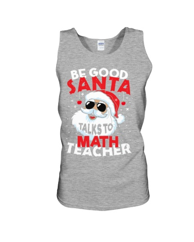Math Teacher -Santa talks to Math Teacher