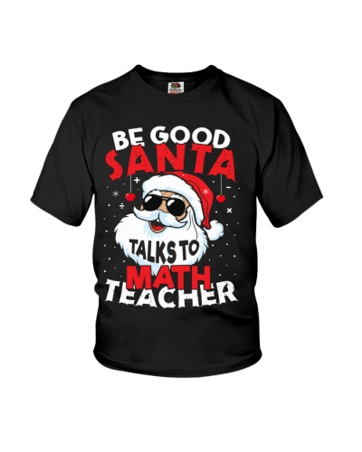 Math Teacher -Santa talks to Math Teacher