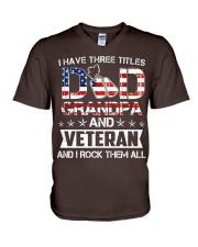 Dad Grandpa - Veteran Rock Them V-Neck T-Shirt thumbnail