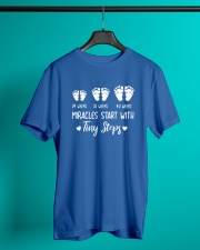 Miracles start with tiny steps Classic T-Shirt lifestyle-mens-crewneck-front-3