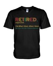 Retired Teacher - Vintage  V-Neck T-Shirt thumbnail