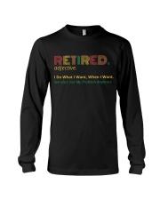 Retired Teacher - Vintage  Long Sleeve Tee thumbnail