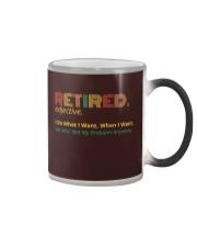 Retired Teacher - Vintage  Color Changing Mug thumbnail