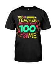 My Teacher Survived 100 Days of Me Premium Fit Mens Tee thumbnail