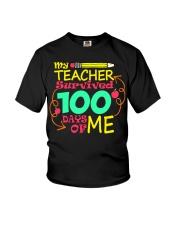 My Teacher Survived 100 Days of Me Youth T-Shirt front