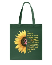 A Girl who kicked Cancers Tote Bag tile
