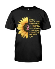 A Girl who kicked Cancers Premium Fit Mens Tee thumbnail