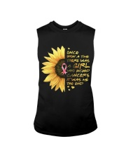 A Girl who kicked Cancers Sleeveless Tee tile