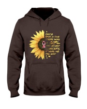 A Girl who kicked Cancers Hooded Sweatshirt thumbnail